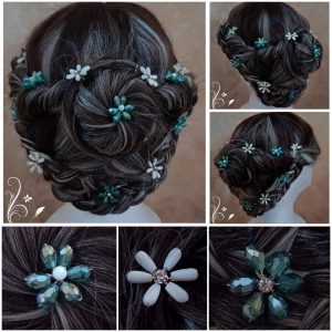 turquoise-and-pearl-beaded-flower-bridal-hair-pins
