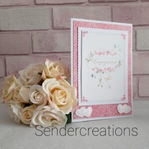 Engagement Card   Congratulations On Your Engagement   Beautifully Handmade uk