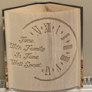 Time With Family Is Time Well Spent Book Fold