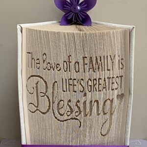 The Love of A Family is Life's Greatest Blessings Book Fold