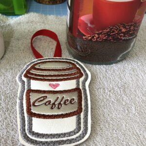 Coffee Cup Reusable Scent Car Hanger| Beautifully Handmade