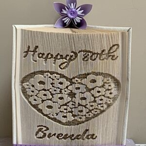 Personalised Happy Birthday Hearts & Flowers Book Fold