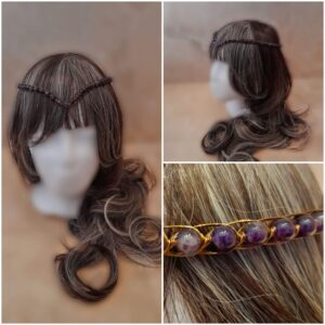amethyst-and-bronze-medieval-wedding-headpiece