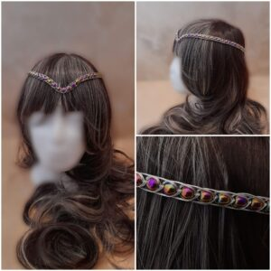 synthetic-hematite-and-silver-medieval-wedding-headpiece