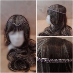 amethyst-and-silver-medieval-wedding-headpiece